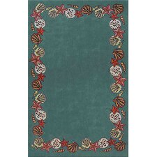 Beach Rug Teal Coral Reef Novelty Rug