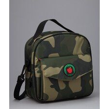 Ethan Placemat Lunch Bag in Camo / Orange with optional Lunch Sack