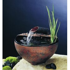 Ceramic Nature Bowl Tabletop Fountain