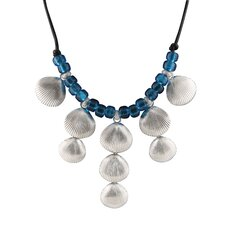 Sterling Silver Blue Beaded Necklace