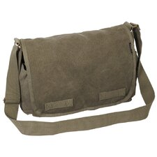 "15"" Cotton Canvas Messenger Bag"