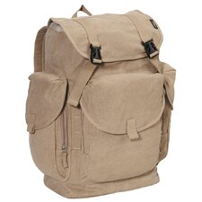 "19.5"" Cotton Canvas Backpack"