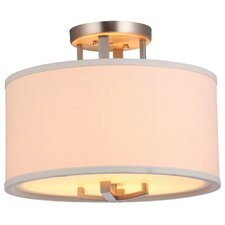 "Voyageur 16"" 3 Light Semi Flush Mount"