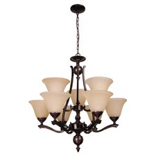 Devonshire 9 Light Up Chandelier