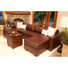 Del Mar Leather Sectional