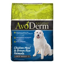 Natural Chicken Meal and Brown Rice Adult Formula Dry Dog Food for Large Breeds