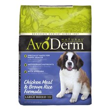 Natural Chicken Meal and Brown Rice Puppy Formula Dry Dog Food for Large Breeds