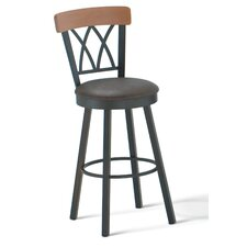 "Brittany 34"" Swivel Barstool with Memory Return"