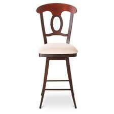 "Cynthia 30"" Swivel Barstool with Upholstered Seat and Backrest"