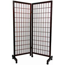 Meditation Folding Room Divider in Rosewood