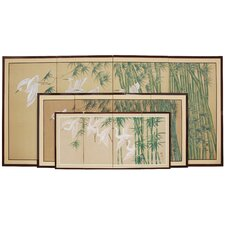 Bamboo Escape Silk Screen with Bracket