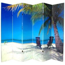 Double Sided Ocean Canvas 6 Panel Room Divider