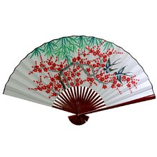 "30"" x 48"" Cherry Blossom Wall Fan in White"