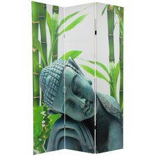 Double Sided Serenity Buddha 3 Panel Room Divider