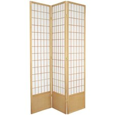 "78"" Window Pane Decorative Room Divider in Natural"