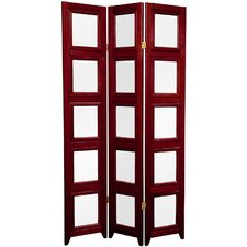 Double Sided Photo Display Room Divider in Rosewood