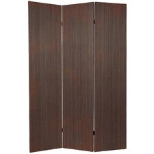 Tall Frameless Bamboo Room Divider in Black