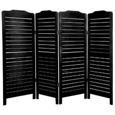 4 Feet Tall Low Venetian Screen in Black