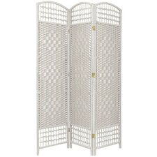 5.5 Feet Tall Fiber Weave Room Divider in White
