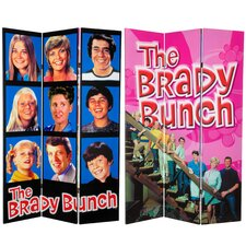 Tall Double Sided Brady Bunch Canvas Room Divider