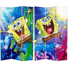 Tall Double Sided SpongeBob SquarePants Canvas Room Divider