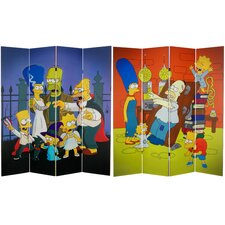 Tall Double Sided Team Simpsons Canvas Room Divider