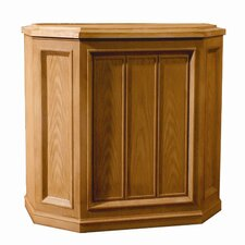 Credenza Style Evaporative Air Whole House Humidifier in Oak
