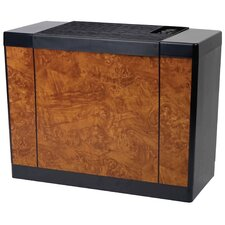10 Gallon Console Style Evaporative Air Whole House Humidifier in Oak Burl