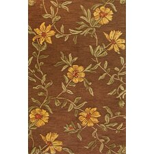 Verona Flower Chocolate Rug