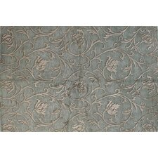 Regent Light Blue Medallion Scrolls Rug