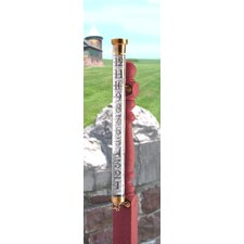 Vermont Estate Rain Gauge in Brass