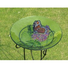 Bird Bath Monarch Lilac in Glass