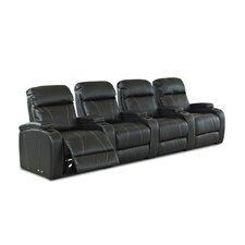 Astor Place Home Theater Bonded Leather Recliner (Row of 4)
