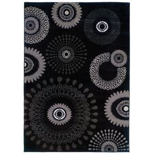 Adana Charcoal Kaleidoscopic Rug