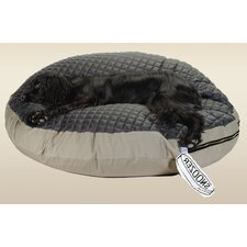 Round Pet Bed with Black Quilted Top
