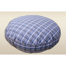 Round Pet Bed in Plaid