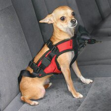 Small Dog Safety Harness in Red
