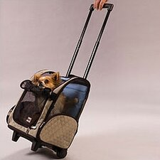 Wheel Around Travel Pet Carrier in Khaki