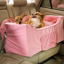 The Luxury Pet Car Seat in Pink Microsuede