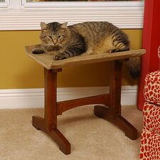 Craftsman Series Single Seat Wooden Cat Perch