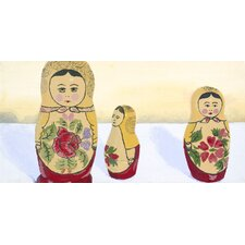 Matryoshka Group Stare Giclee Print Art