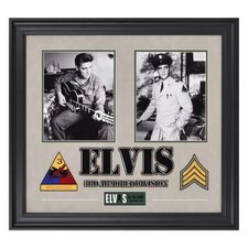 "Elvis Presley ""Army Years"" Framed Presentation - 23"" X 25"""