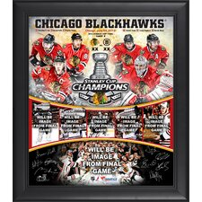 NHL 2013 Stanley Cup Champions Framed Multi-Photo Collage