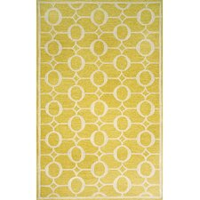 Spello Arabesque Yellow Outdoor Rug