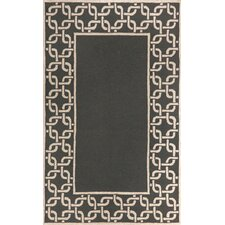 Spello Chain Border Midnight Outdoor Rug