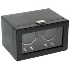 Heritage Module 2.1 Double Watch Winder with Cover in Black