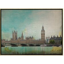 London Calling Lacquer Framed Art