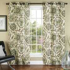 Medallions Poly Duck Cloth Grommet Curtain Panel Pair