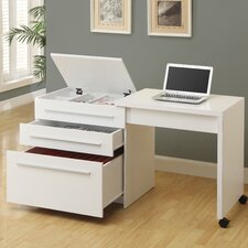 Computer Desk with Storage Drawers