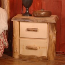 Summit Peak 2 Drawer Nightstand